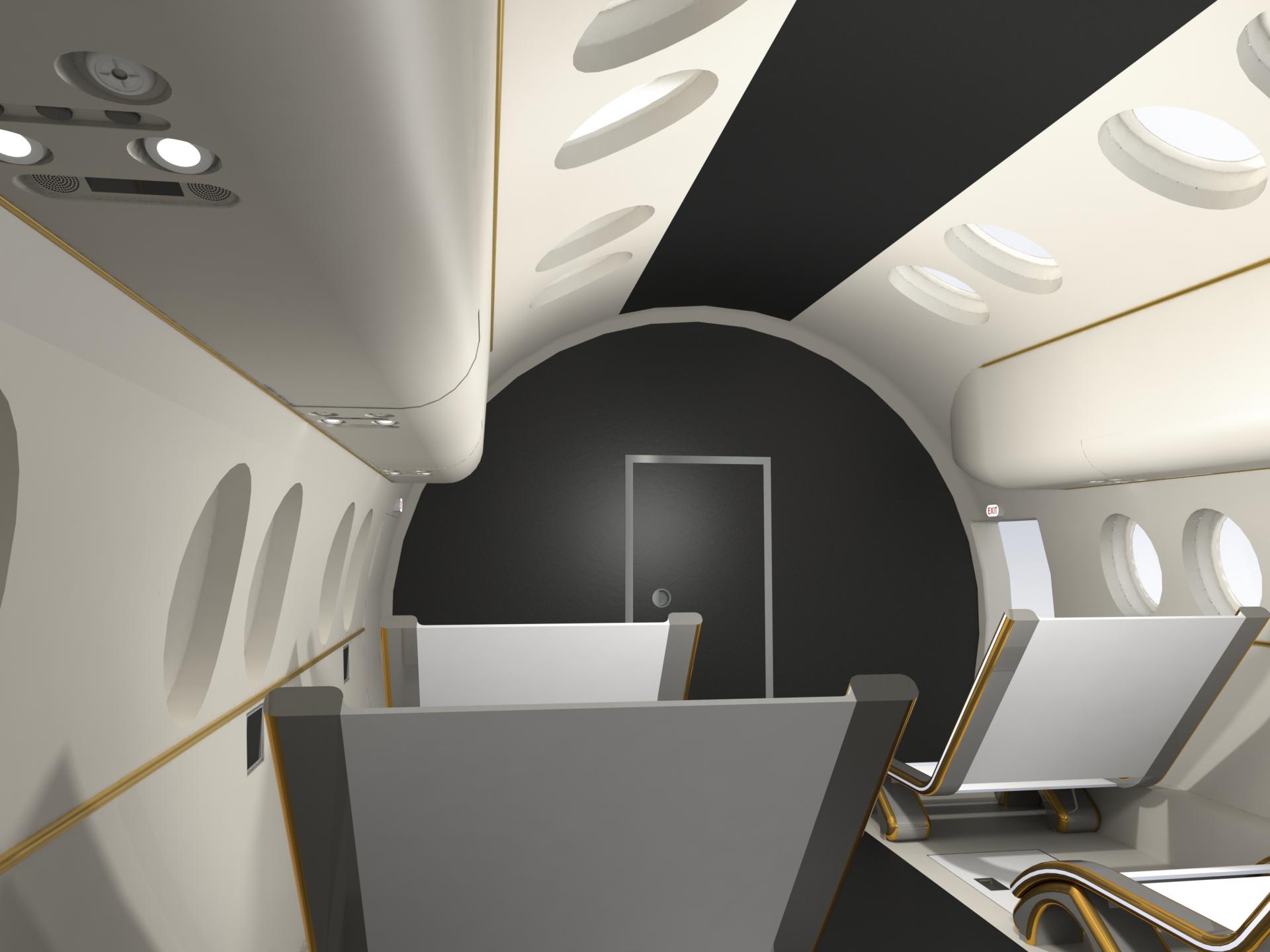 Kabina załogowa w samolocie suborbitalnym